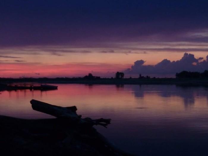9. The Missouri River at sunrise