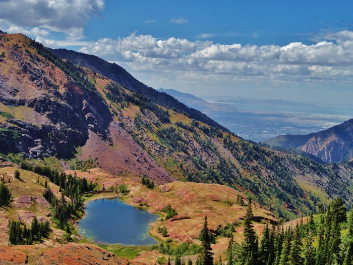 15. Michael Bowman took this photo of Lake Blanche and the Salt Lake Valley.
