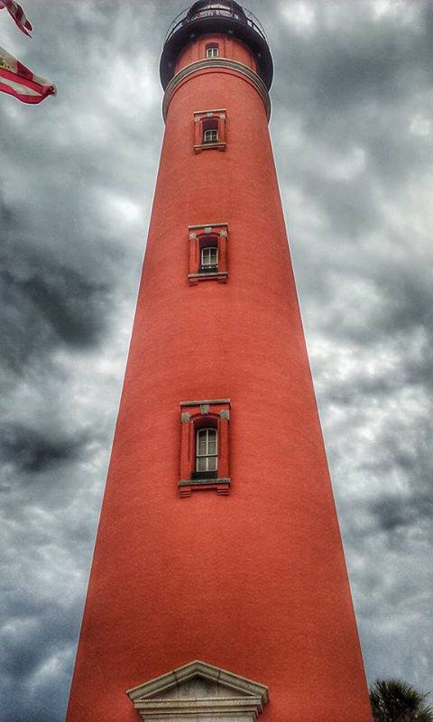 4. We loved this photo of the Ponce Inlet Lighthouse on a stormy day by Tierney Rupert.