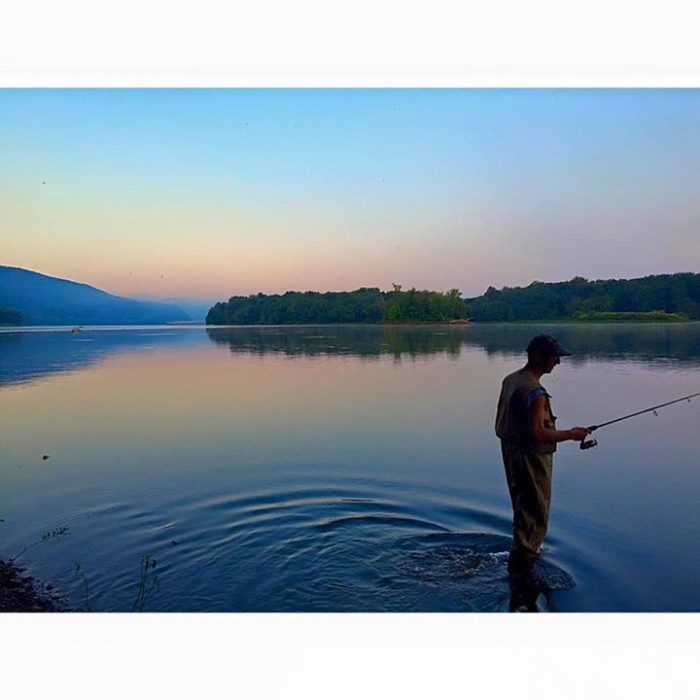 19. Bill Olson's daughter, Ashley, captured this photograph of him fishing in the Susquehanna River near Duncannon.