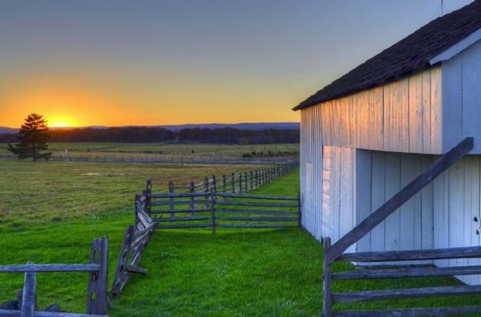 14. Douglas Gitt took this photo of the sunset at Gettysburg.