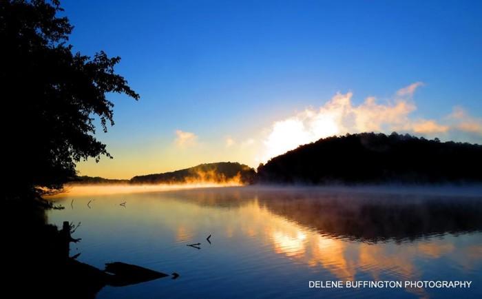 "9. ""Sunrise on a cool crisp morning at Rocky Mountain Project, Rome Georgia."" - Delene Gray Buffington"