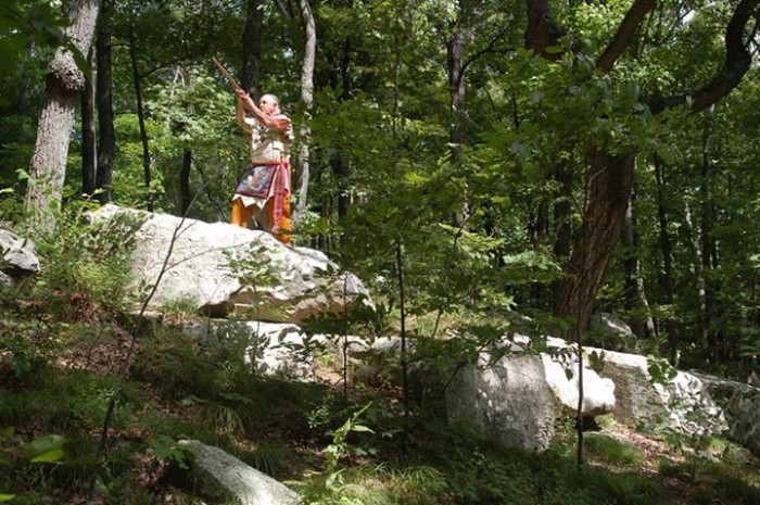 13. Arthur Medicine Eagle-Sonier shared a picture of Brown County and told us a story that a  man was trying to build a house in the area when a column fell on his son and he lost him. The legend has it the boy is still buried under the rocks today.