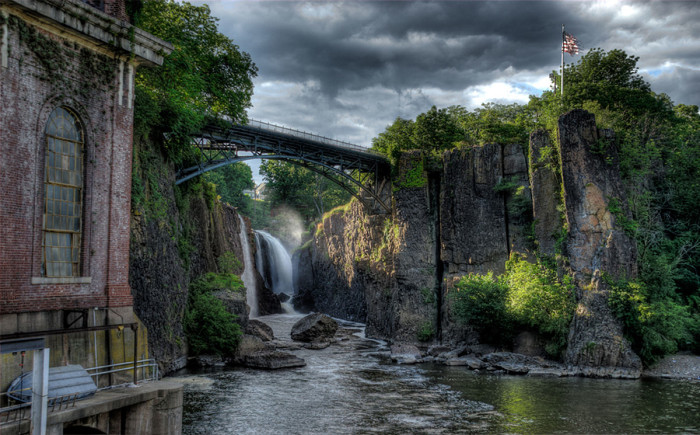 2. Great Falls National Park in Paterson, as seen from the ground. You can also score incredible views from the footbridge!