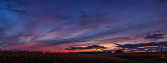 2. Sunset over Ashland County cornfield