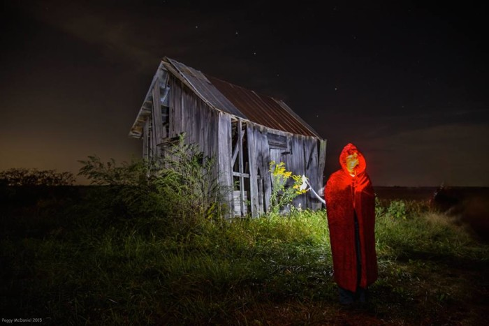 4. Peggy McDaniel decided to frighten us with a spooky Halloween themed picture in Yankeetown!