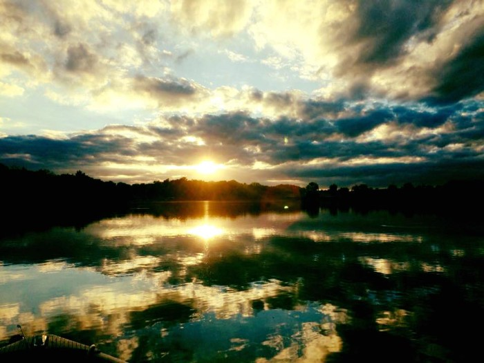 1. Michael Snow took a beautiful picture of the sun setting on Fox Lake in Angola.