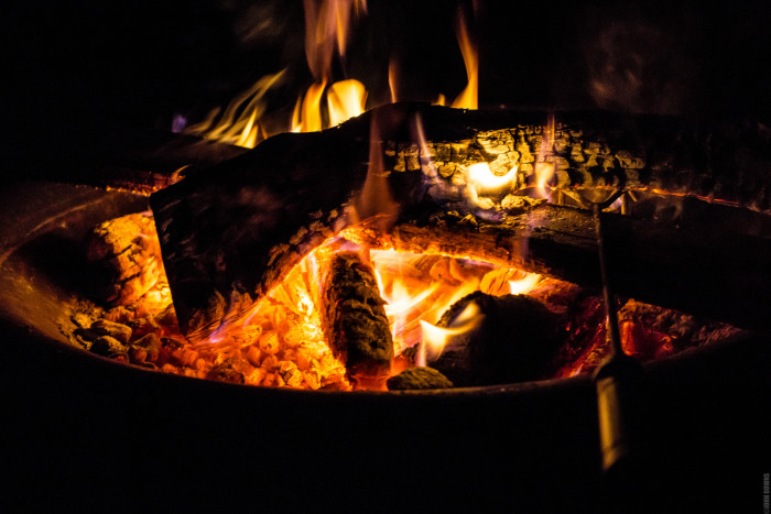 12) If we're lucky, some nights are cool enough for lighting a fire, making s'mores, and telling scary ghost stories!