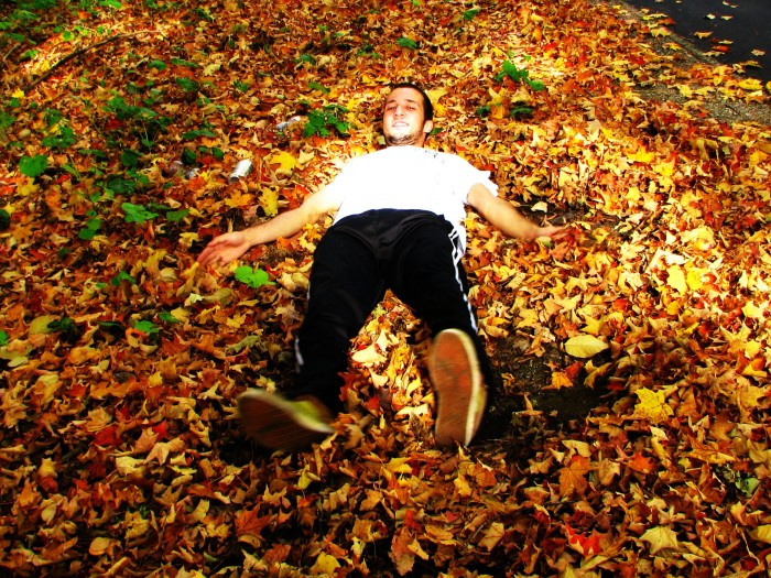 12. Rake up piles of leaves...lots and lots of leaves.