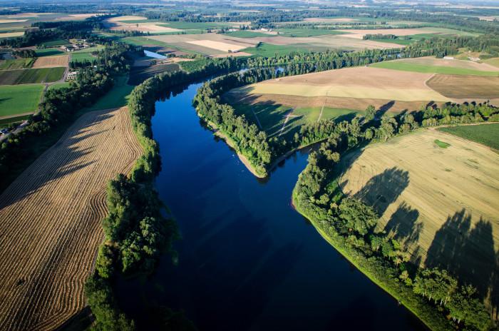 9) The Willamette River in Newberg, Oregon