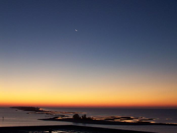 1. This gorgeous Biloxi sunrise looks too good to be true.
