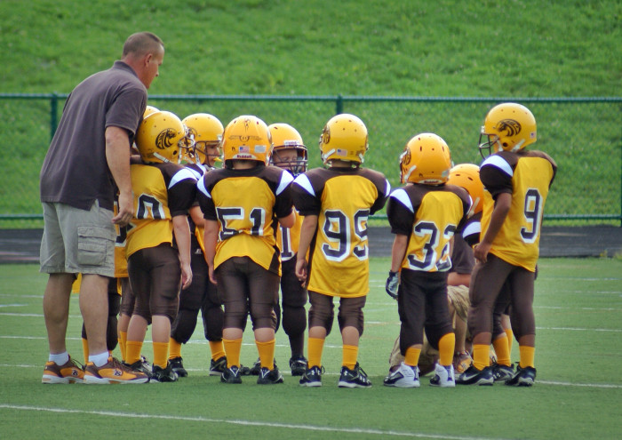5. Watch a kids' soccer, hockey or football game.