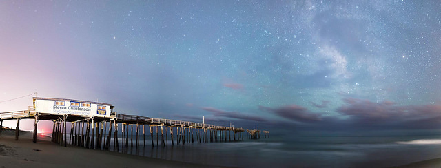 13.  And oceanside drama between rickety piers and sweeping twilight skies
