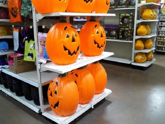 7. Halloween items start filling retail store shelves.
