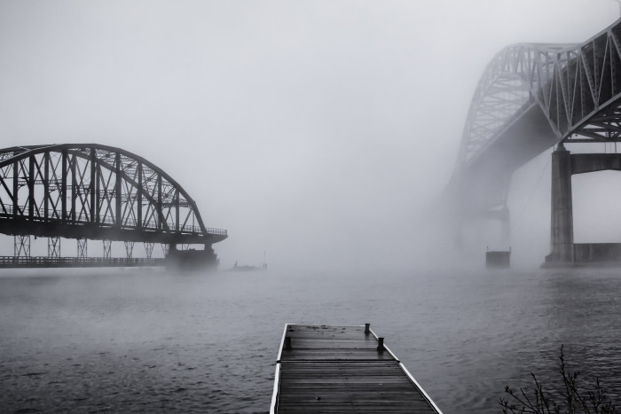 10. Speaking of fog, not being able to see where you're going is one of the scariest feelings of them all - especially on a bridge!