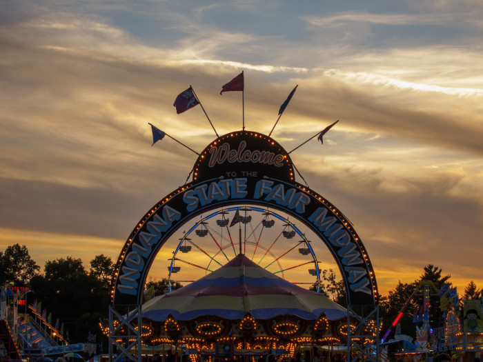 11. Indiana state fairs and small town fairs are always so incredible and festive. What better way to say you love the state than going to one of these fairs?
