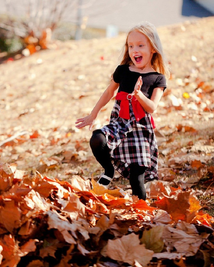 8. Jump into a freshly-raked pile of leaves.