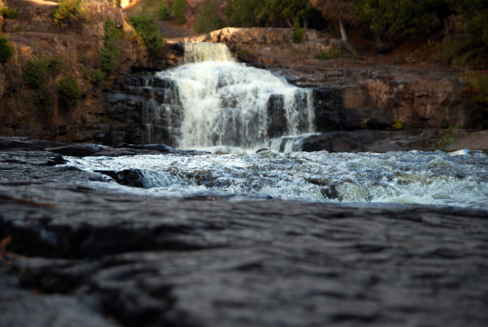 23. The falls and surrounding rock paint the perfect picture of MN wilderness.