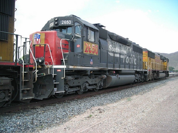 2. Pictured here is Southern Pacific Engine #2650 in Caliente, Nevada.