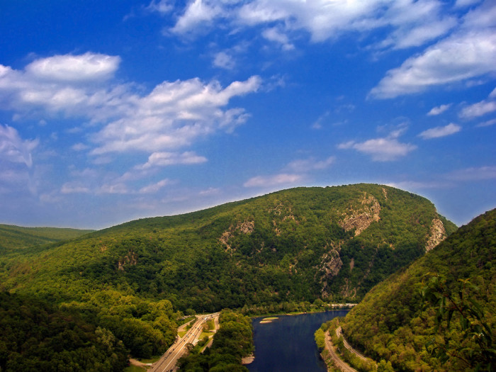 9. Views of the Delaware Water Gap and surrounding mountains from the Appalachian Trail.