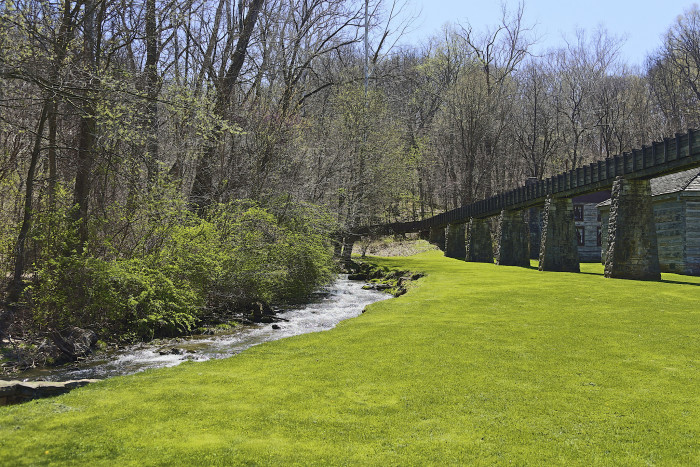 7.  Check Out Spring Mill State Park.