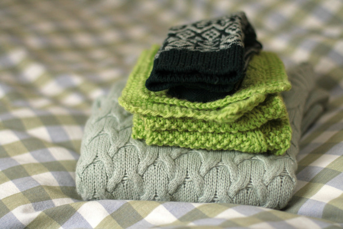 10. Break the sweaters, coats, scarves, and gloves out of storage.