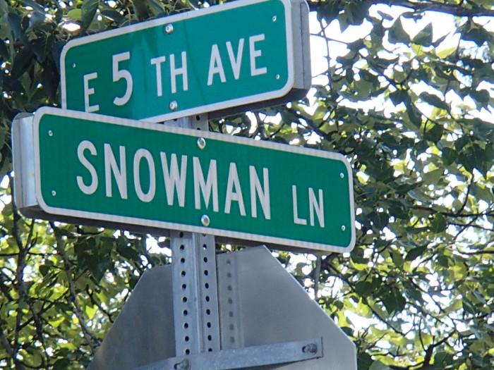 4) Snowman Lane