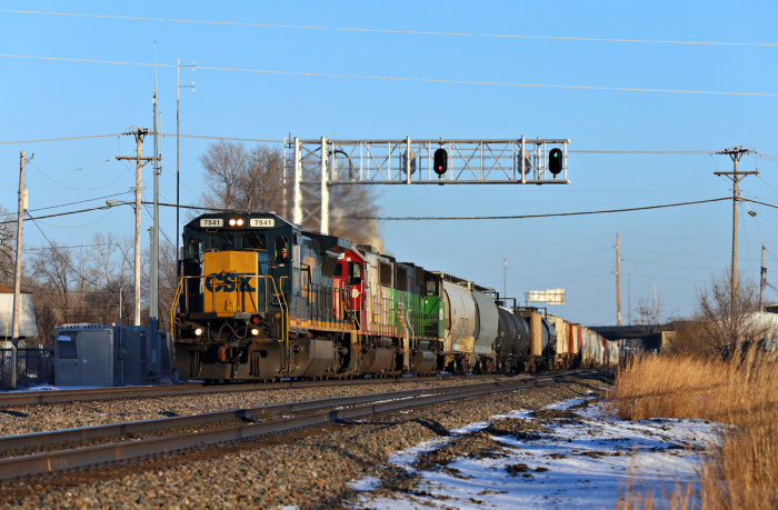 16. CSX 7541 in Anoka looks picturesque in the spring.