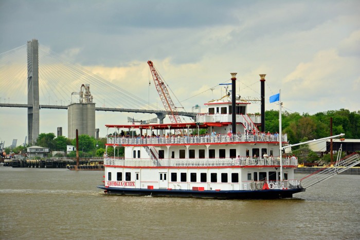 6. Have dinner on a riverboat.
