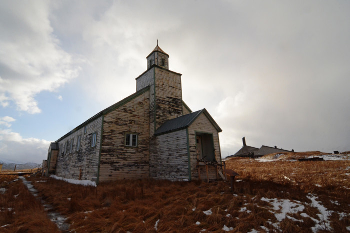 5) Abandoned Church on Adak Island