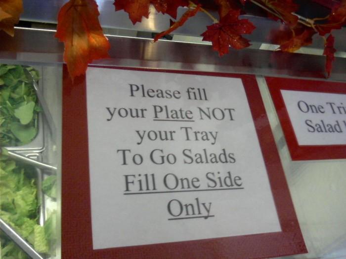 10) Salad Bar Etiquette