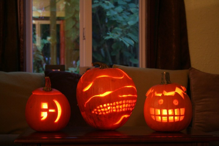 8. We can carve some hilarious and creative pumpkins as it gets closer to Halloween.