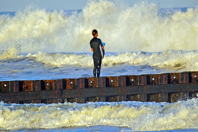 2. Surf off the coast of Cape Hatteras.