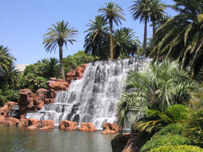 10. The Mirage Waterfall at The Mirage Hotel Las Vegas