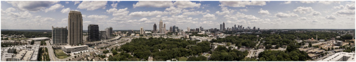 In the morning we'll rise up over the city to see this panoramic view...
