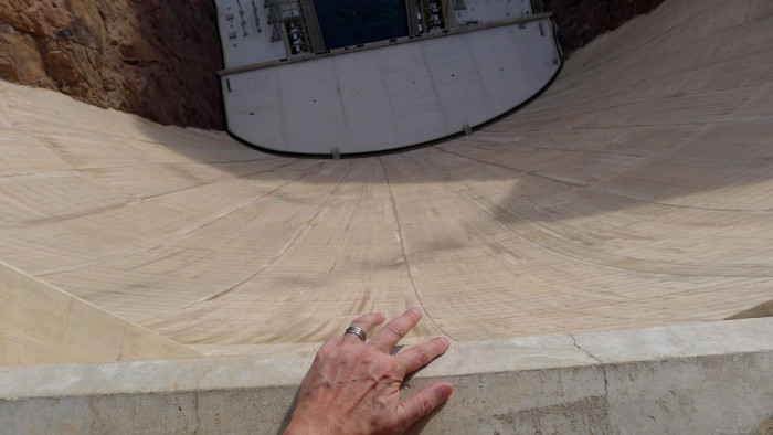 4. Looking straight down from the top of Hoover Dam can make your palms start to sweat if you don't have a firm grip on something.