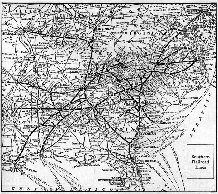 1921_Southern_Railway_map