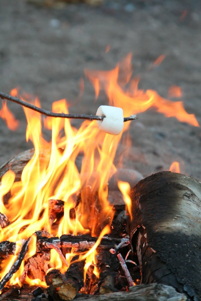 3. Roasting marshmallows on an open fire. Sure, you can do this in the summer, but why would you?