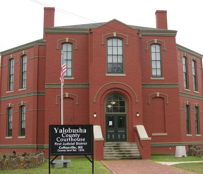 1. Yalobusha County: 42.70/10,000