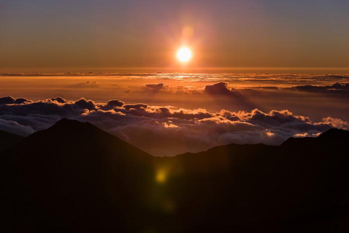 2) A sunrise from atop Haleakala.