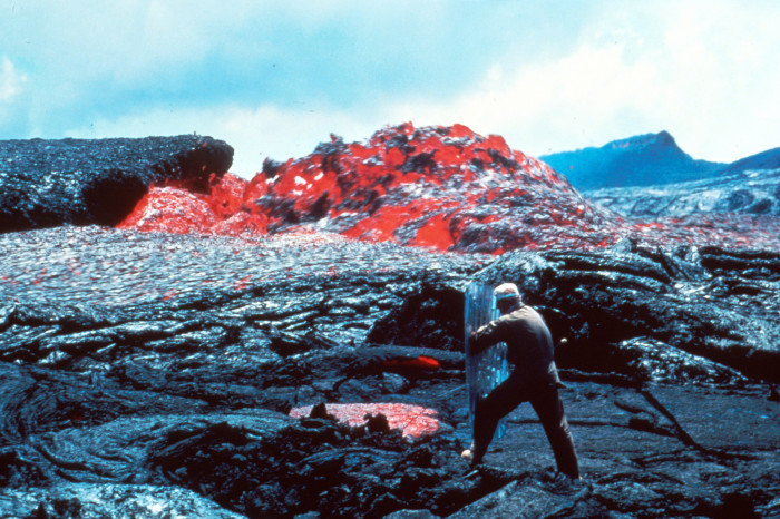 2) I guess it gets pretty hot and humid here, too. But people from Hawaii are tough enough to handle it. Luckily, we will never be as hot as this guy who was photographed measuring the temperature near the Mt. Kilauea volcanic eruption.
