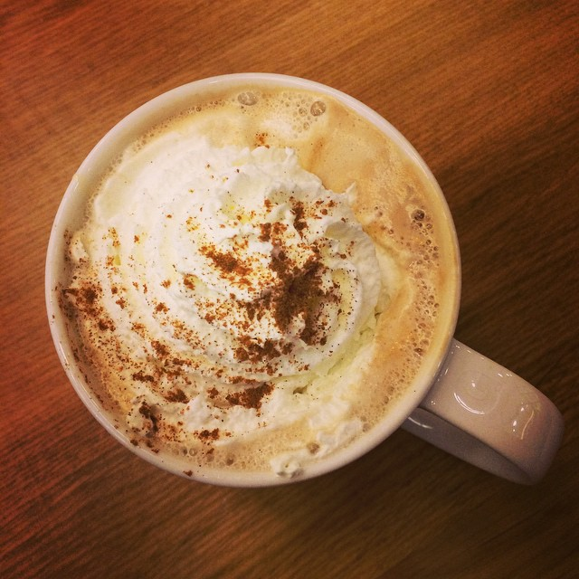 "2.  You are suddenly seeing pumpkin-spice flavored everything!  Last year I started indulging early and was ""all pumpkined out"" by Thanksgiving.  I plan to start in October this year. Pictured is Starbucks Pumpkin Spiced Latte."