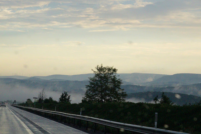 6. The drive on I-99 is always a dramatic trip through the mountains.