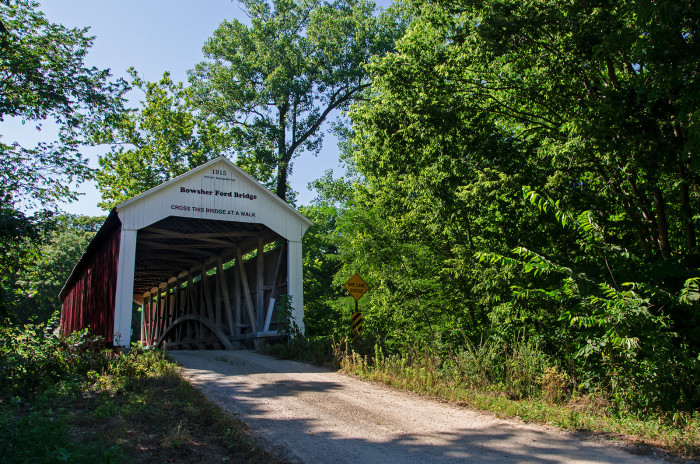 1. Bowsher Ford is a beautiful covered bridge that has recently celebrated its 100th birthday. The bridge is still open to traffic making it a beautiful scenic experience.