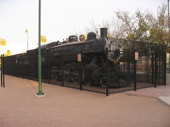7. The Southern Pacific Engine at Pioneer Park, Mesa