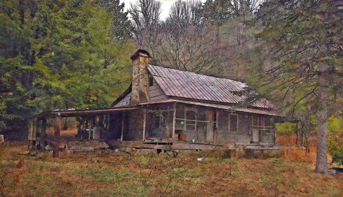 9. Old House in Fannin County, GA.