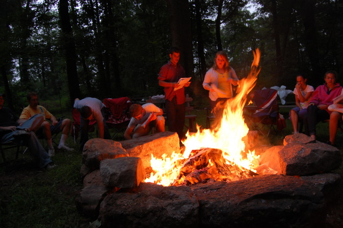 2. Spend an evening with friends around a bon fire.