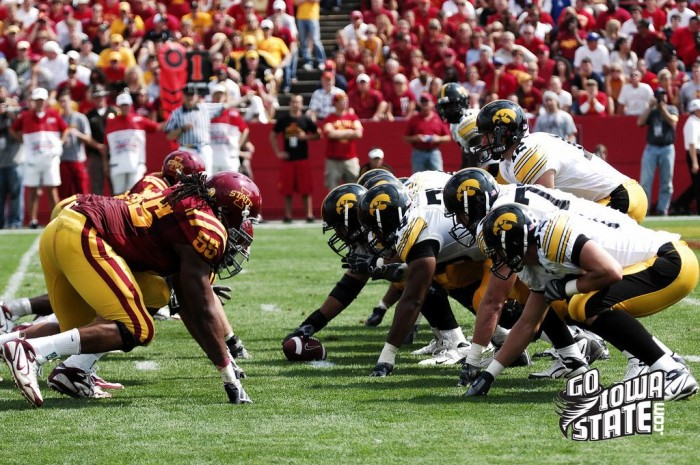 2. Watching the Iowa vs. Iowa State game, even better if we're tailgating.