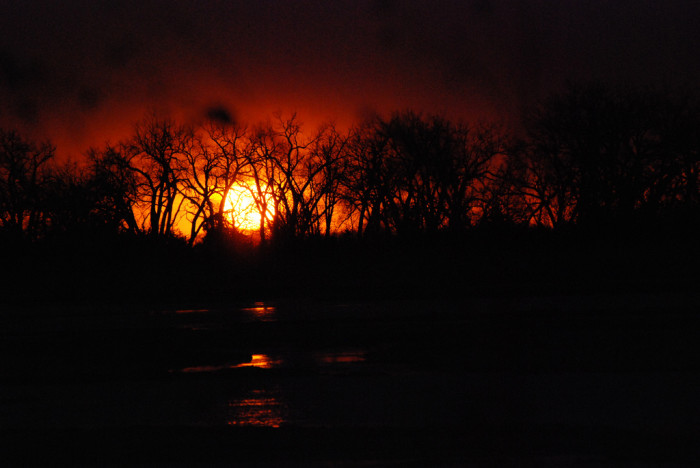 12. A Fiery Sunset at Rowe Sanctuary Near Kearney