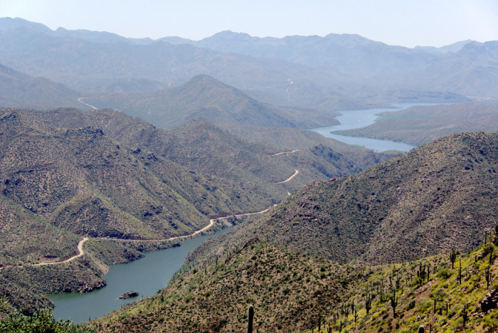 10. Apache Trail (State Route 88) also offers some breathtaking views of the Superstitions, Roosevelt Dam, and Tonto National Monument before connecting with Route 188.